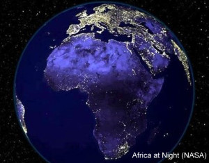 Africa at Night Article Caption