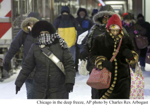 Chicago in Deep Freeze Article Caption